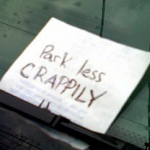advice windscreen note